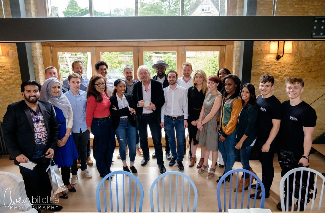 Virgin StartUp ambassadors 2016 with Richard