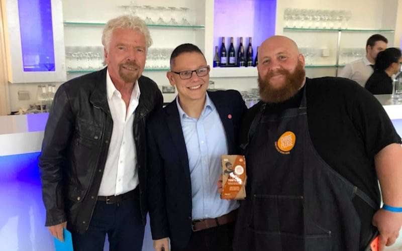 Richard Branson with Change Please founder