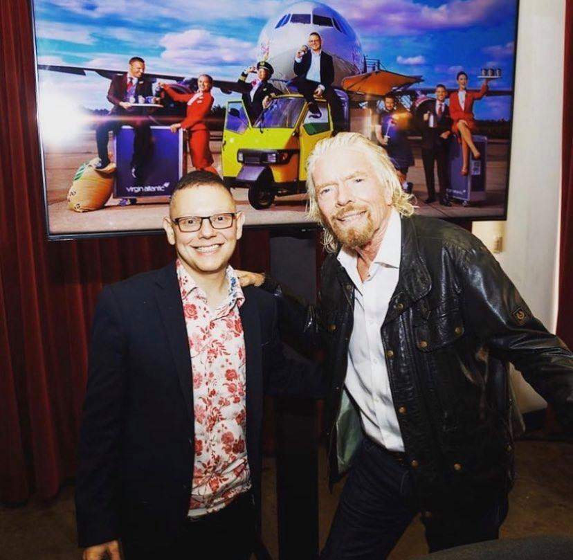 Change Please founder, Cemal, with Richard Branson