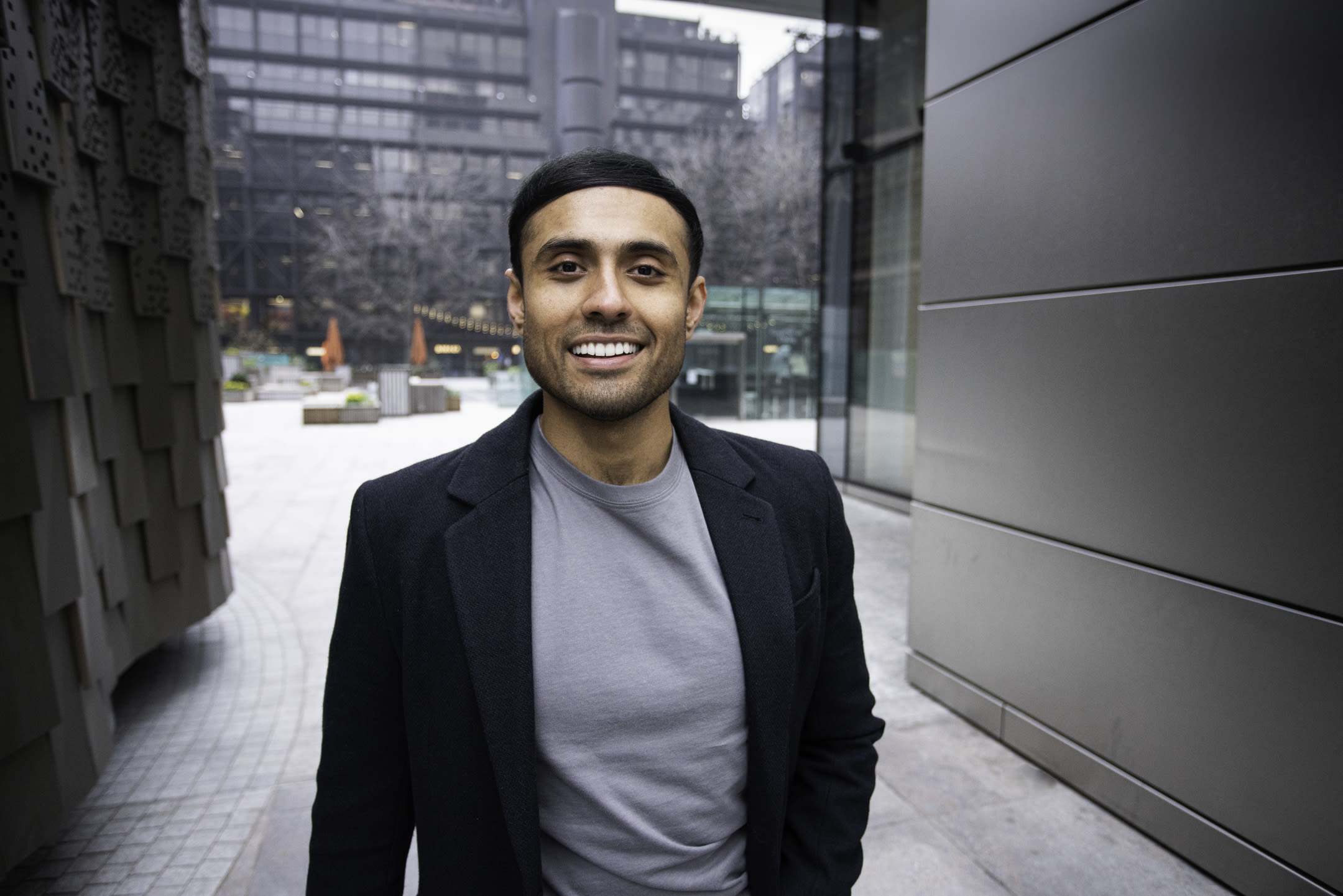 Photo of Dhruvin Patel standing outdoors