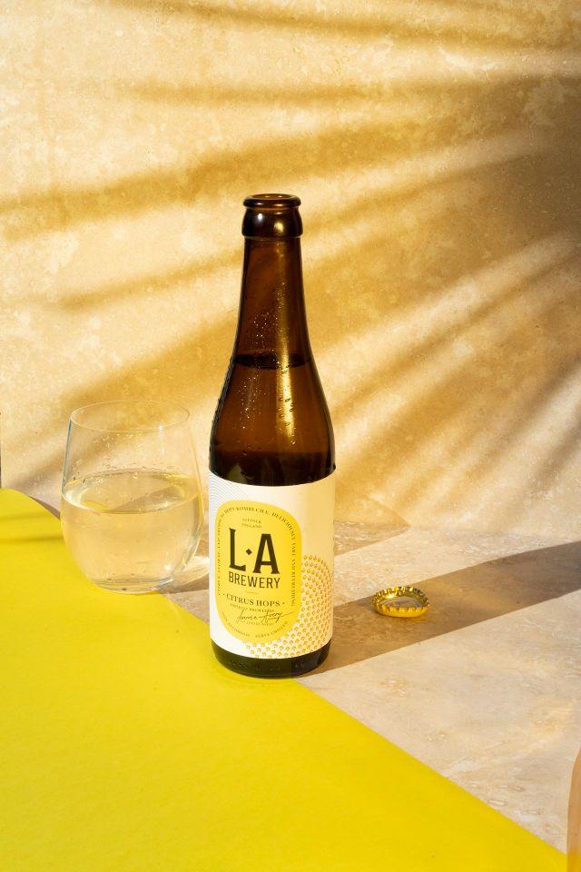 Yellow LA Brewery product shot