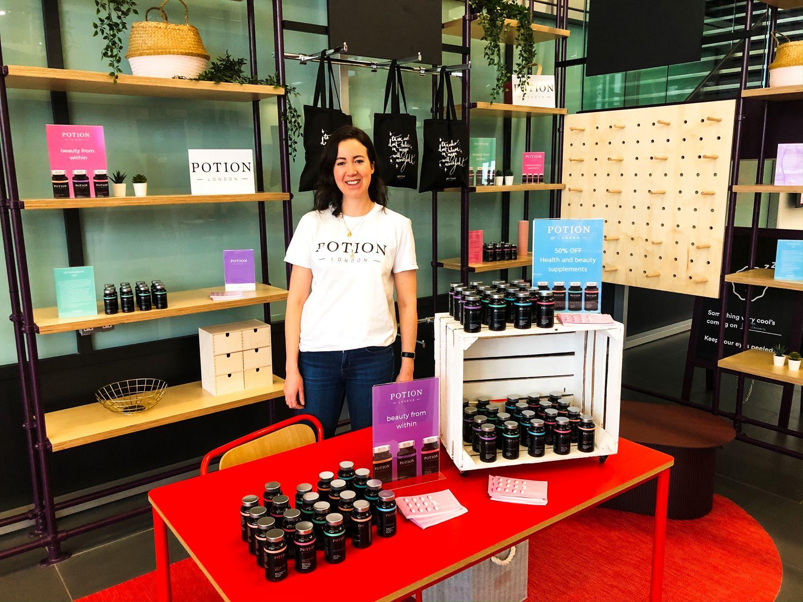 Photo of Alexa Mullane at the Curiosity Shop