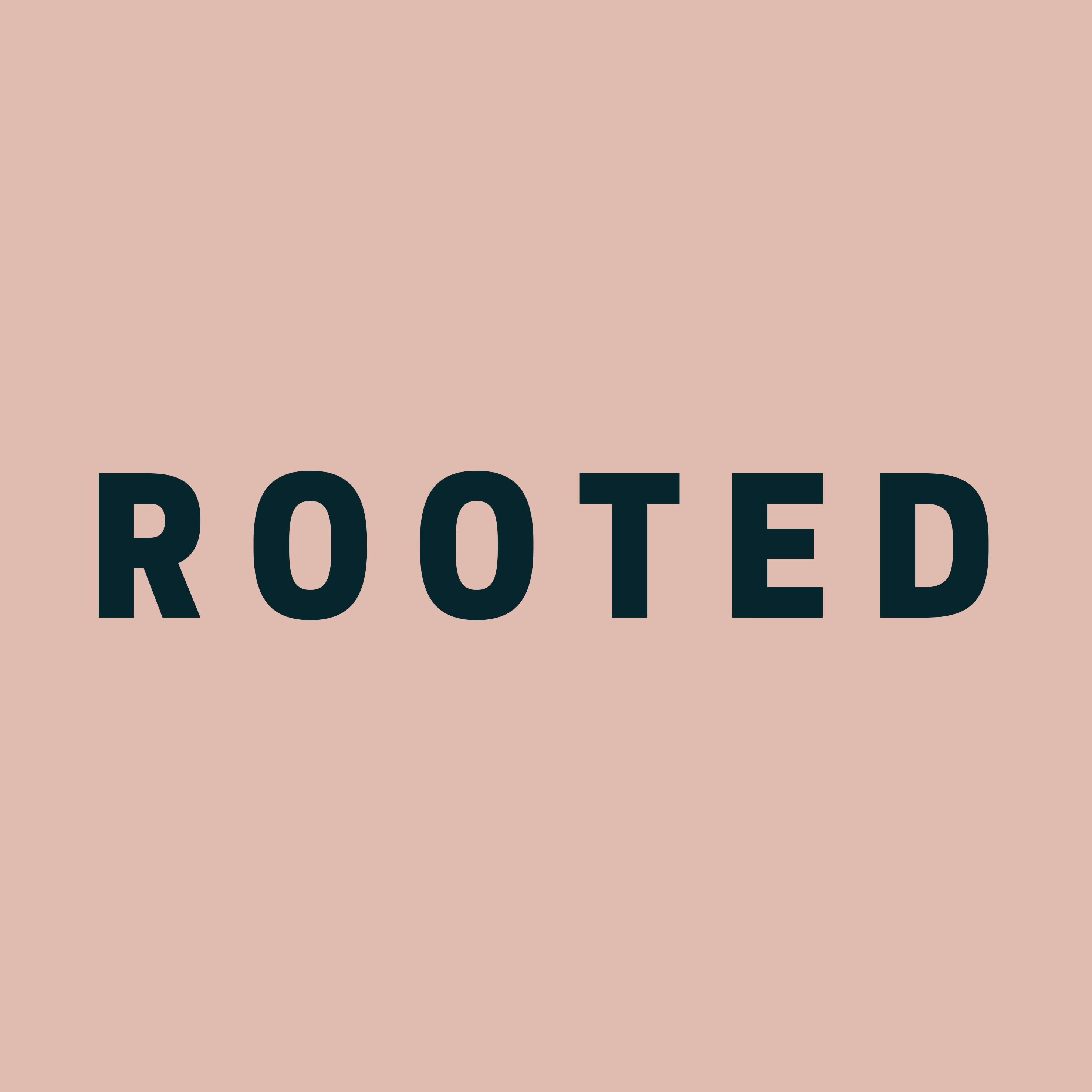 The logo for Rooted Interiors