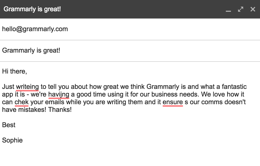 Business tool: never make a spelling mistake again Grammarly
