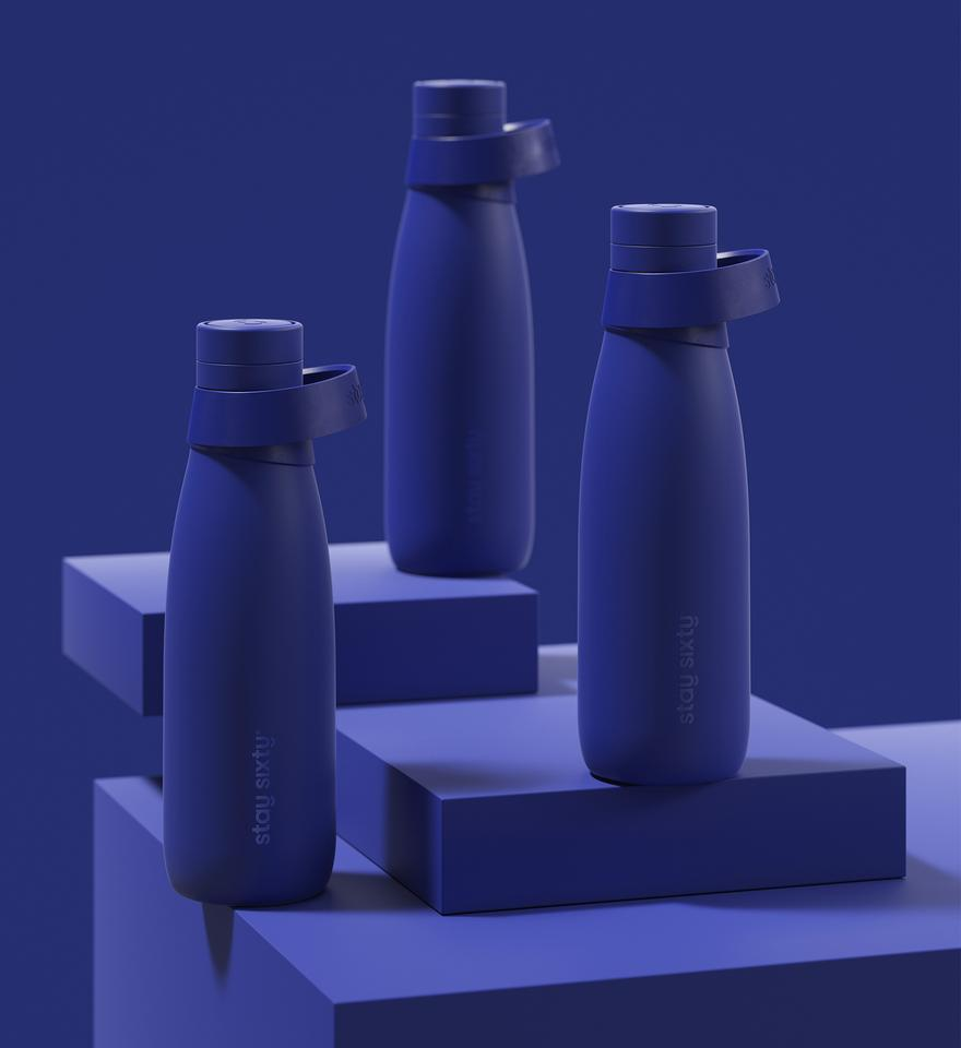 An image of Stay Sixty water bottles