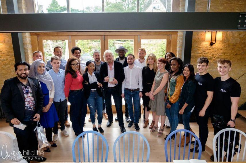 Virgin StartUp ambassadors 2016 with Richard