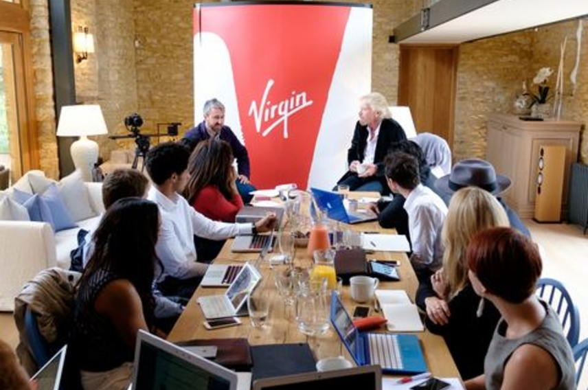 Virgin StartUp ambassadors - branding with Richard Branson 1