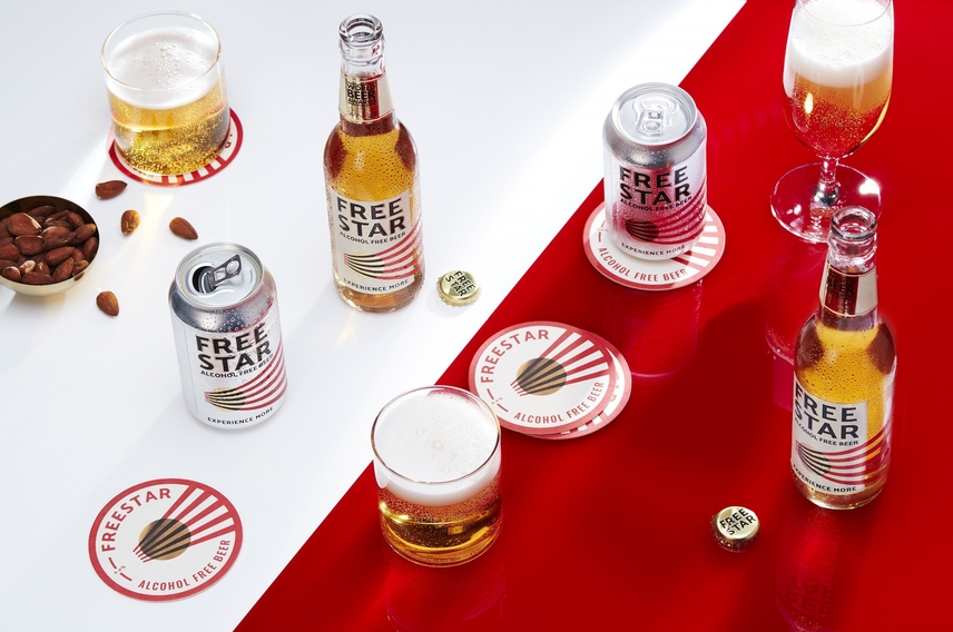 Freestar alcohol free beer brand