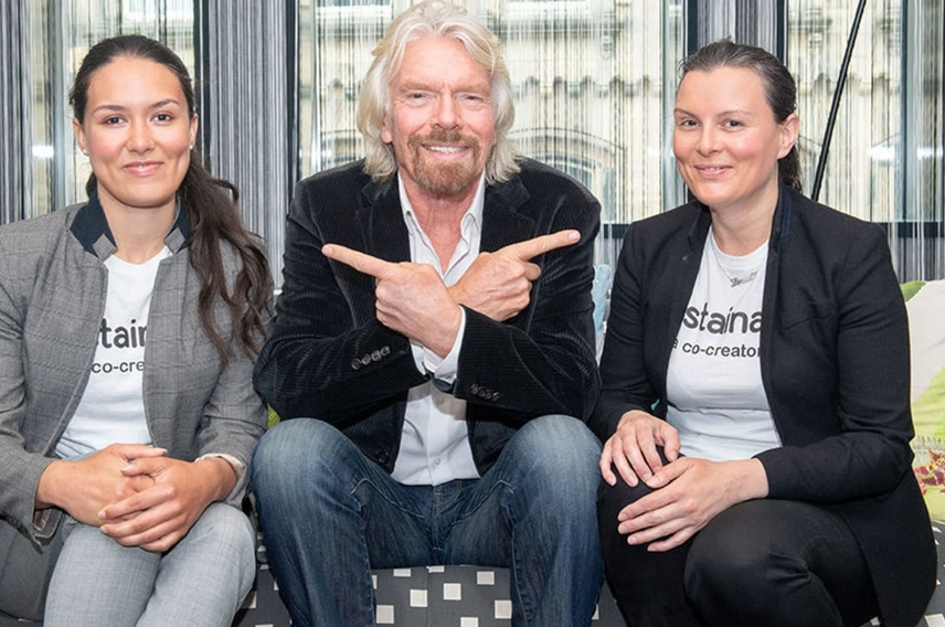 Richard Branson meets the founders of Sustainably