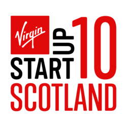 Virgin StartUp 10 Scotland - Logo (white Virgin)