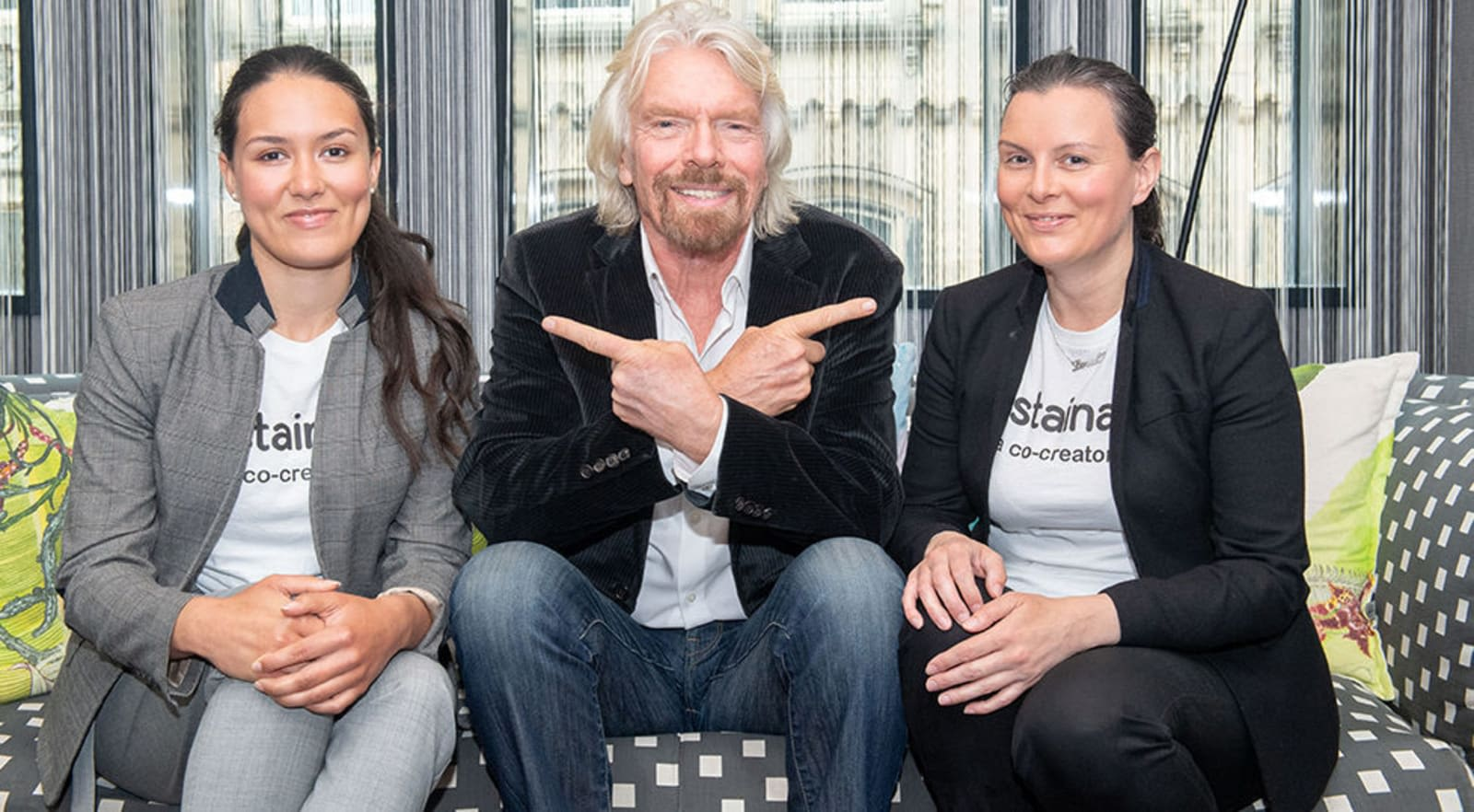 The founders of Sustainably with Richard Branson